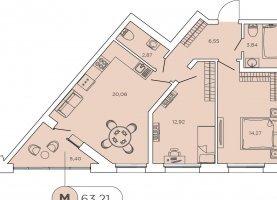 - фото. Купить трехкомнатную квартиру без посредников, Санкт-Петербург, бульвар Александра Грина, 2к1 - фото.