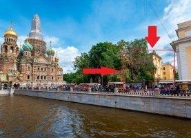Снять - фото. Снять однокомнатную квартиру посуточно без посредников, Санкт-Петербург, набережная канала Грибоедова, 2ББ - фото.