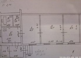 Продам трехкомнатную квартиру, 52.8 м2, Тульская область, село Лобаново, 1